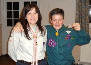 Lisa and Joe celebrate their double awards